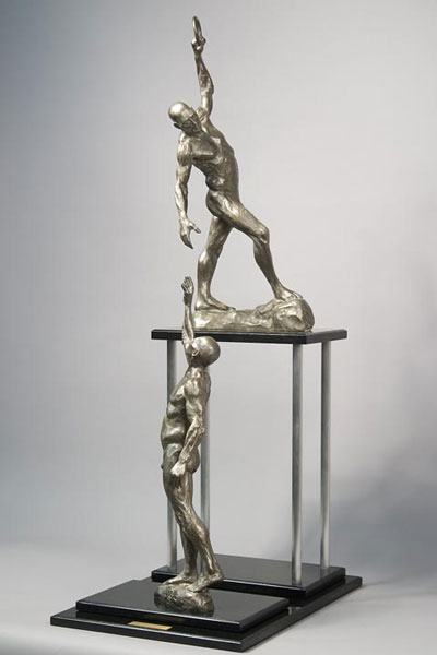 Chain of Success bronze sculpture