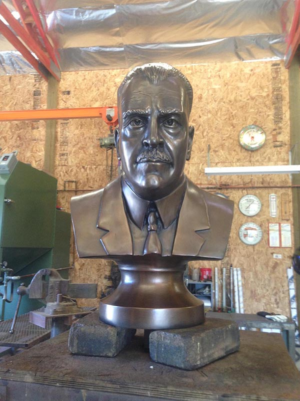 Amadeo Giannini foundry bronze sculpture by Gregory Reade