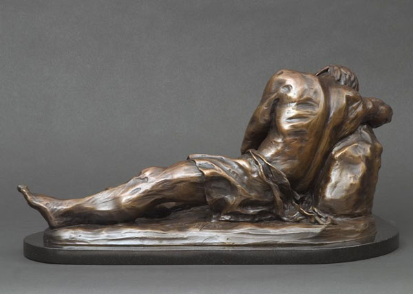 Hylas bronze sculpture by Gregory Reade