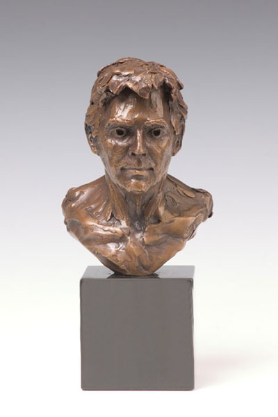 Jesse portrait bronze sculpture by Gregory Reade