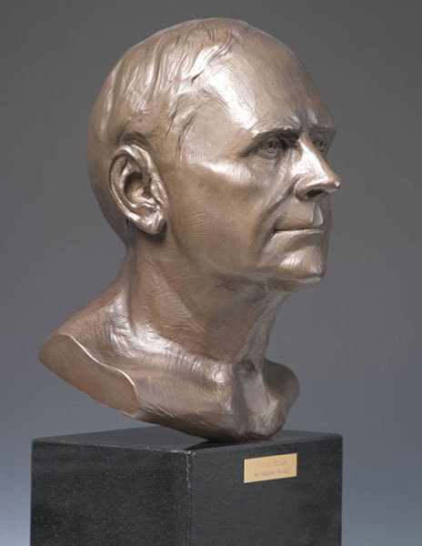 Robert Reade bronze portrait